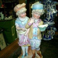 Antigüedades: FIGURA EN PORCELANA TIPO BISCUIT DEL VIEJO PARIS, FRANCIA.. Lote 37360877