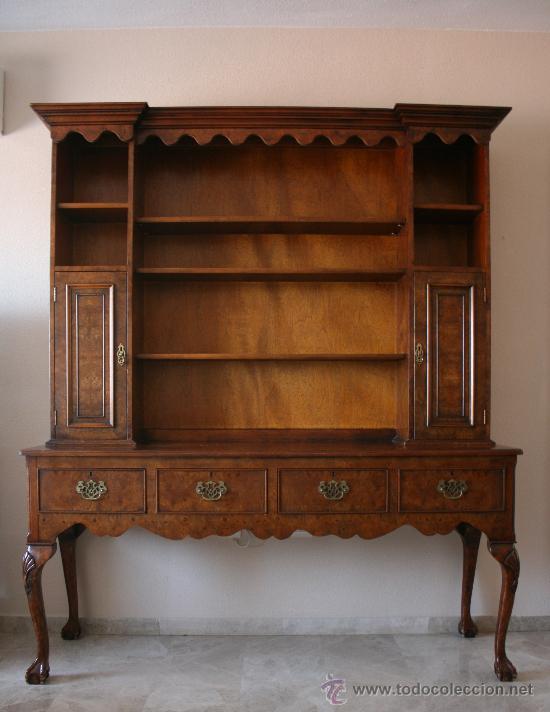 Magnifico antiguo mueble librer a en madera de comprar - Muebles antiguos de madera ...
