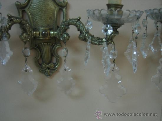 Antigüedades: Pareja de candelabros de bronce antiguos 30x30 cm. Funcionan - Foto 8 - 37388862