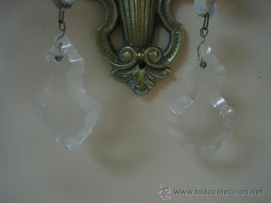 Antigüedades: Pareja de candelabros de bronce antiguos 30x30 cm. Funcionan - Foto 12 - 37388862