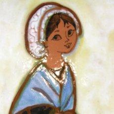 Antigüedades: AZULEJO CATALÁN AÑOS 60 ESMALTADO CUERDA SECA. Lote 37375893