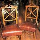 Antigüedades: SILLA EN MADERA CON ASIENTO DE SKY. Lote 62890450