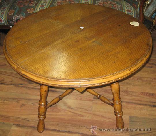 Mesa de madera de roble redonda extensible con comprar for Mesa redonda de cristal extensible