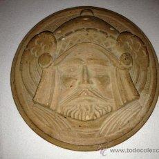 Antigüedades: ANTIGUO PLATO DE MADERA TALLADA. Lote 37414684