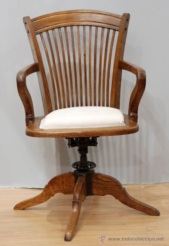 sillón giratorio despacho madera nogal años 20 - Comprar Sillas ...