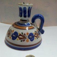 Antigüedades: PEQUEÑO CANDELABRO DE PORCELANA. Lote 37419787