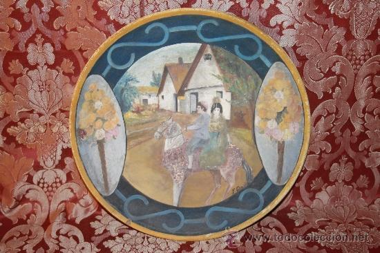 PLATO VALENCIANO DE PRINCIPIOS DEL SIGLO XX - FIRMADO F. GARCIA (Antigüedades - Porcelanas y Cerámicas - Manises)