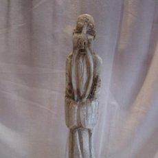 Antigüedades: ESCULTURA ORIENTAL EN ALABASTRO, REPRESENTANDO SABIO - FIRMADA 'E. J. CANTÓ'. Lote 37426399