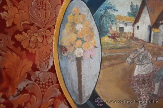 Antigüedades: PLATO VALENCIANO DE PRINCIPIOS DEL SIGLO XX - FIRMADO F. GARCIA - Foto 4 - 37420285
