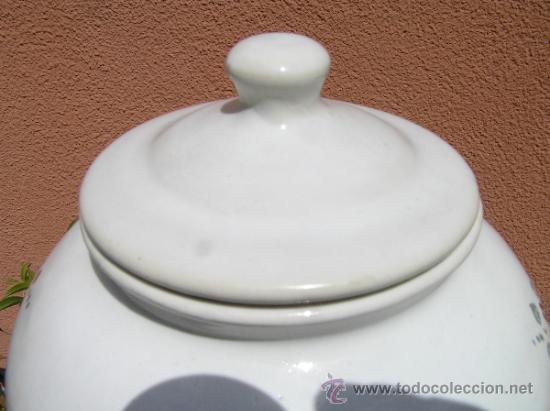 Antigüedades: COMPOTERA. SIGLO XIX. ALCORA. Preciosa. - Foto 5 - 37417063