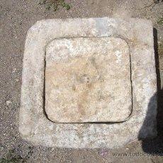 Antigüedades: ALCANTARILLA ANTIGUA DE PIEDRA HECHA A MANO 100 AÑOS CANTERA DE BERJA ALMERIA 62X62 ALTO 17. Lote 37435539