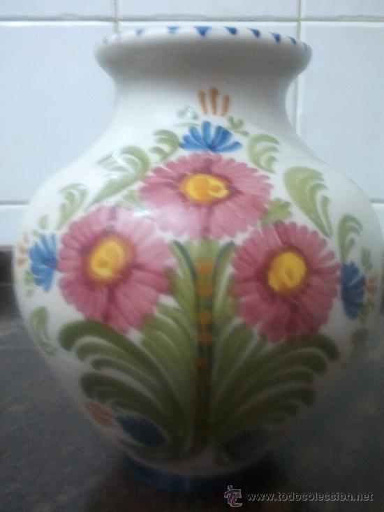 Antigüedades: JARRON CERAMICA DE TALAVERA Nº 44 - Foto 3 - 37438578