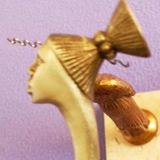 Antigüedades: (BASTONES) BASTÓN ARTESANAL CON CABEZA DE MUJER AFRICANA EN BRONCE - ¡PROMOCION 30% EN BASTONES!. Lote 37446876