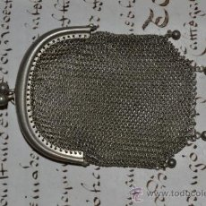 Antigüedades: MONEDERO DE PLATA. Lote 37455057
