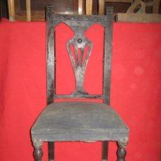 Antigüedades: JUEGO DE CINCO SILLAS DE MADERA PARA RESTAURAR.. Lote 27353516