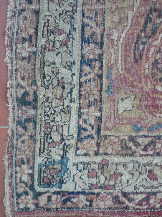 Antigüedades: ANTIGUA ALFOMBRA. PERSIA ORIENTAL. SIGLO XIX. - Foto 4 - 37455449