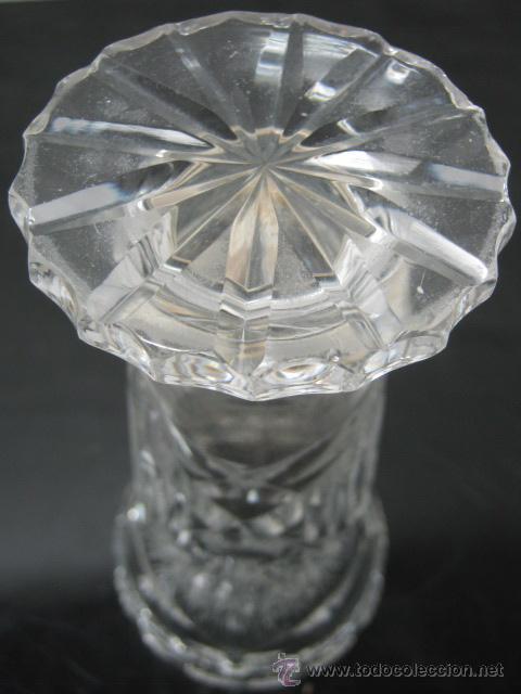 Antigüedades: Antiguo florero cristal tallado 15.2 cm - Foto 4 - 37464276