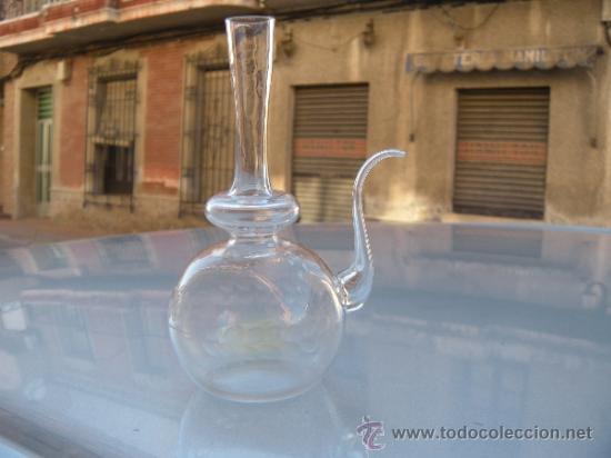 ANTIGUO PORRÓN TALLADO Y PERSONALIZADO. SANTA LUCÍA, CARTAGENA. (Antigüedades - Cristal y Vidrio - Santa Lucía de Cartagena)