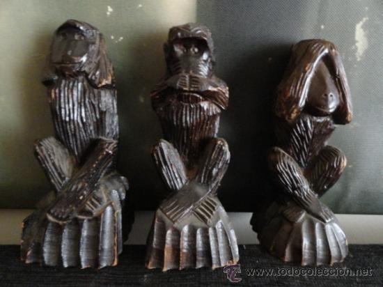 Los Tres Monos Sabios Ver Oir Y Callar Madera M Sold Through