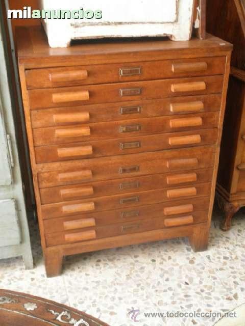 Antiguo mueble cajones imprenta comprar muebles - Cajones de madera antiguos ...