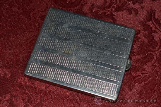 Antigüedades: INTERESANTE PITILLERA DE PLATA CONTRASTADA CON INSIGNIA DE LA FALANGE,PRIMO DE RIVERA E INSIGNIA - Foto 3 - 37509290