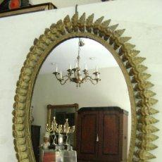 Antigüedades: ESPEJO SOL. OVALADO. Lote 37522432