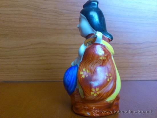 Antigüedades: Figura oriental de porcelana fina pintada a mano - Foto 4 - 37592781