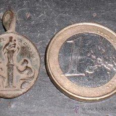 Antigüedades: ANTIGUA MEDALLA VIRGEN DEL PILAR SIGLO XVII. Lote 37523764