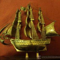 Antigüedades: BARCO GALEÓN DE PLATA DE LEY. Lote 37546567