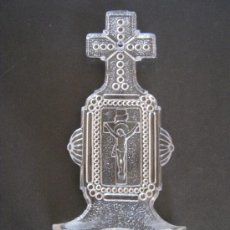 Antigüedades: ANTIGUA BENDITERA DE CRISTAL PPIO. S. XX. Lote 37549127