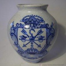 Antigüedades: JARRON AZUL DE TALAVERA. Lote 37562689