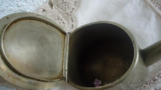 Antigüedades: Antigua jarra aceitera alcuza modernísta de alpaca de Meneses Art Decó Jarra - Foto 7 - 37252201