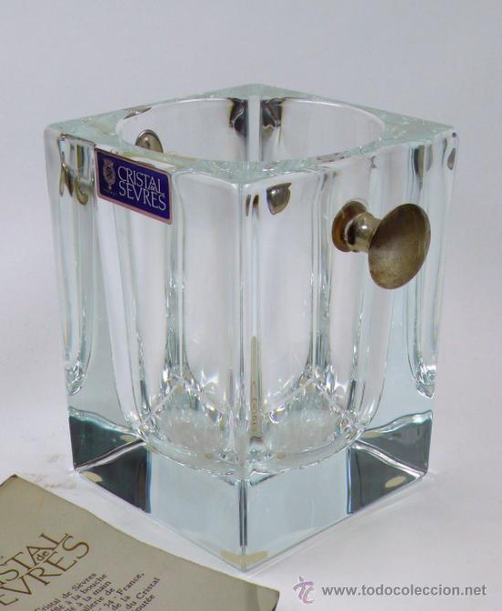 CUBITERA DE SEVRES, 14 CM DE ALTURA, . EN . SIN USAR. (Antigüedades - Cristal y Vidrio - Otros)