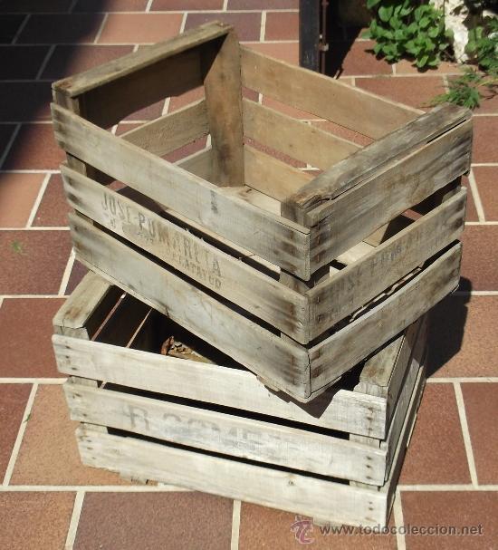 lote de 25 cajas de fruta de madera antiguas antigedades tcnicas rsticas - Cajas De Madera De Fruta