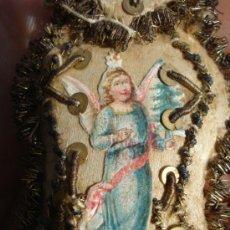 Antigüedades: ANGEL CUSTODIO RELICARIO SXIX. Lote 37609801