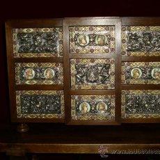 Antigüedades: IMPRESIONANTE BARGUEÑO ( PLATA, HUESO, HIERRO Y NOGAL ) DIGNO DE MUSEO. OCASIÓN. Lote 37607730