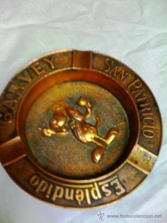 CENICERO BRONCE ESPLENDIDO GARVEY (Antigüedades - Hogar y Decoración - Ceniceros Antiguos)