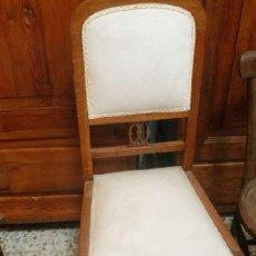 Antigüedades: ANTIGUA SILLA DE ROBLE DE ESCRITORIO. Lote 37611173