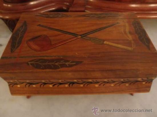 ANTIGUA CAJA DE TABACO DE OLIVO (Antigüedades - Técnicas - Rústicas - Utensilios del Hogar)