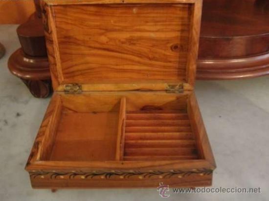 Antigüedades: ANTIGUA CAJA DE TABACO DE OLIVO - Foto 2 - 37611329