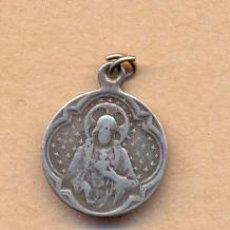 Antigüedades: MON 749 MEDALLA PLATA REGINA SACRI SCAPULARIS 15 MM 1 GRAMO. Lote 37618496