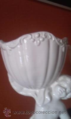 Antigüedades: Preciosa pareja de copas Sujetas por niños al hombro porcelana CAPODIMONTE - Foto 5 - 37620805