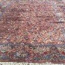 Antigüedades: ESPECTACULAR ALFOMBRA PERSA DE FINALES DEL SIGLO XIX EN GRAN TAMAÑO.MOTIVO FLORAL. Lote 37624115