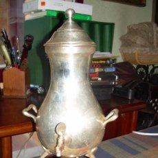 Antigüedades: SAMOVAR ANTIGUO, EN ALPACA CON BAÑO DE 20 MICRAS DE PLATA.. Lote 37627748
