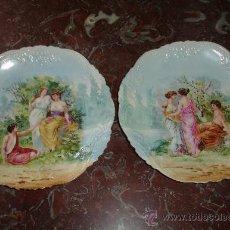 Antiquitäten - pareja de platos muy antiguos p.p.s pasado - 37631851