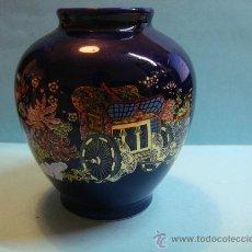 Antigüedades: ESPECTACULAR BÚCARO JAPONES DE 12CM DE ALTURA. PORCELANA JAPONESA. COLOR AZUL .. Lote 37640295