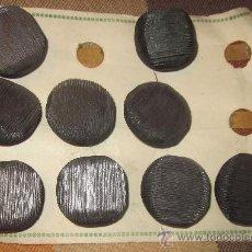 Antigüedades: 9 BOTONES GRANDES,GRIS MARENGO CON REFLEJOS,TIPO BOLA,AÑOS 40,A ESTRENAR. Lote 37642587