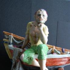 Antigüedades: FIGURA DE PORCELANA ,SELLO PORCELANA SUREDA. Lote 37649164