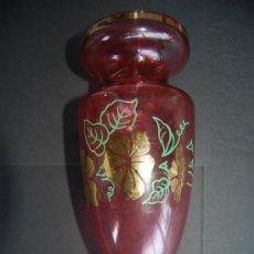 Antigüedades: BONITO FLORERO ANTIGUO DE CRISTAL. Lote 37649291