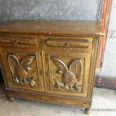 Antigüedades: MUEBLE APARADOR MADERA DORADA. Lote 37652792